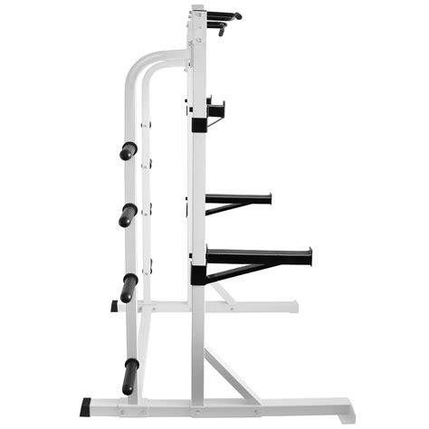 hd white olympic power cagesquat weight rack home multi gym pull  barlift ebay