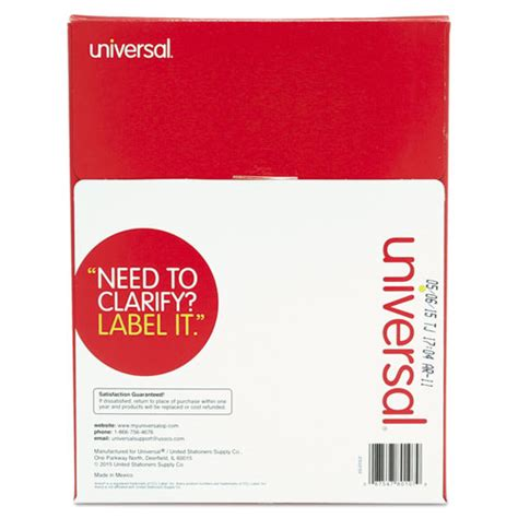 Universal Laser Printer Labels Template by Unv80107 Universal 174 Laser Printer Permanent Labels Zuma