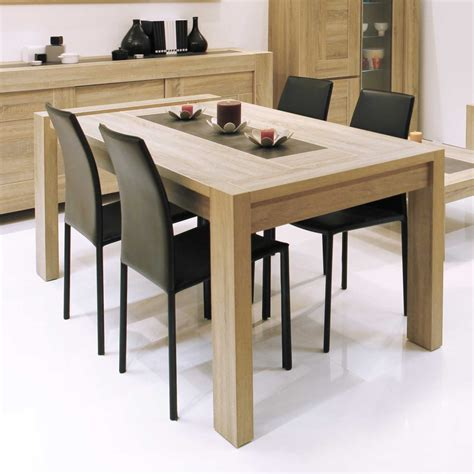 table de bureau conforama table à manger rectangulaire bois avec allonge l180