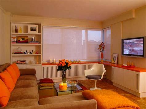 Orange Livingroom by 15 Orange And White Living Rooms Home Design Lover
