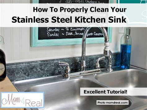 clean stainless steel kitchen sink how to properly clean your stainless steel kitchen sink