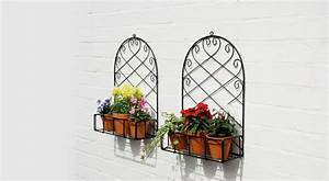 White Half Cone Wall Mounted Planter » Home Decorations