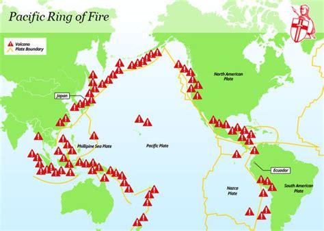 ring  fire map    bali volcano terrifying