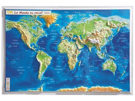 carte du monde murale carte murale en relief monde wesco pro
