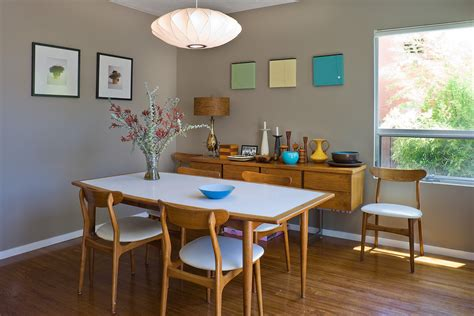 mid century dining table dining room modern  architect