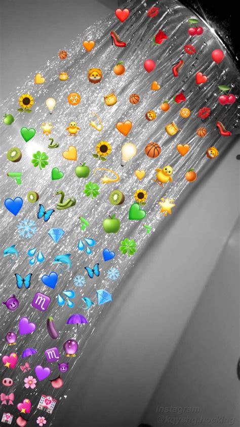 aesthetic rainbow emoji shower wallpaper emoji wallpaper