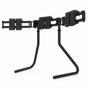 RS STAND T3L Black Triple Screen Up To 3x32inch