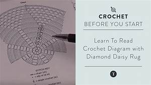 Learn Read Crochet Diagram With Diamond Daisy Rug