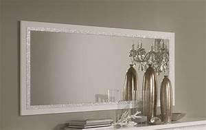 miroir de salle a manger design 180 cm laque blanc medusa With miroir de salle a manger rectangulaire