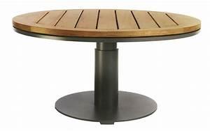 Table De Jardin Ronde En Bois : table de jardin ronde l 39 univers du jardin ~ Dailycaller-alerts.com Idées de Décoration