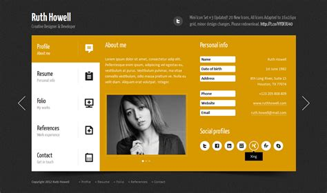 vcard template free prestige personal vcard template by quanticalabs