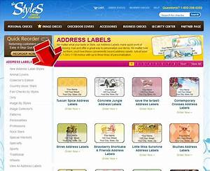 Styles checks address labels coupon code for Checks and address labels
