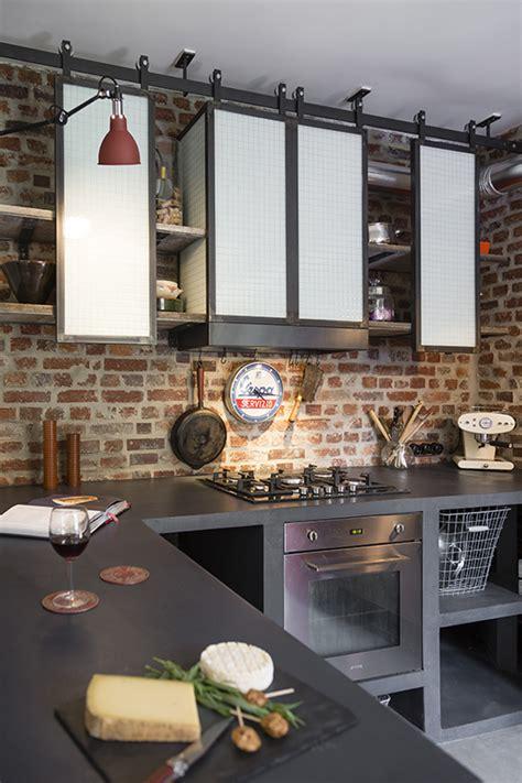 table etagere cuisine étagères de cuisine de style indus en acier conception et fabrication les ateliers du 4