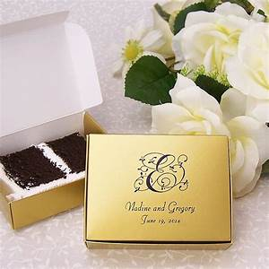 favor boxes 5 x 4 cake slice personalized With wedding cake favor boxes