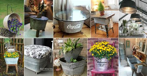 astonishing wash tubs reuse ideas