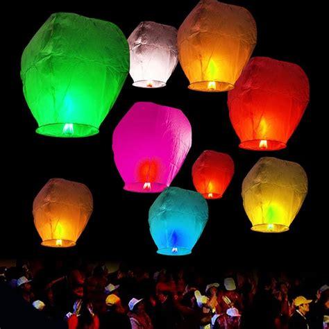 flying candles sky lanterns x20 sky lanterns paper sky candle wish wedding flying l ebay