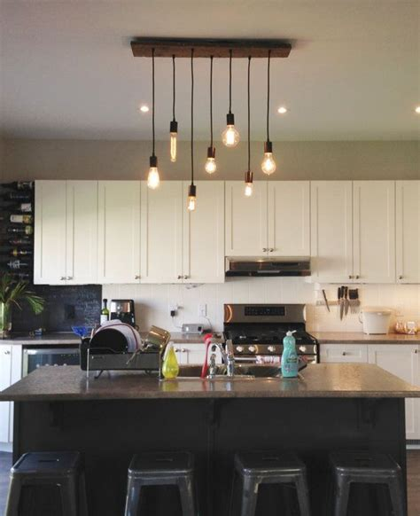 Kitchen Lighting   7 Pendant Wood Chandelier All