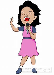Musician clipart singing - Pencil and in color musician ...