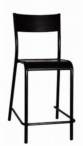 Chaise Assise 60 Cm : chaise de bar 510 originale assise bois h 60 cm h 60 cm noir label edition ~ Teatrodelosmanantiales.com Idées de Décoration