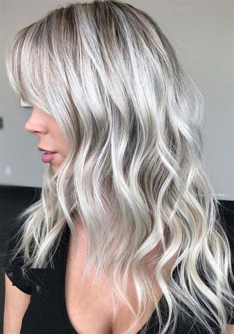 White Color Hair by 31 Platinum White Hair Color Shades For 2018