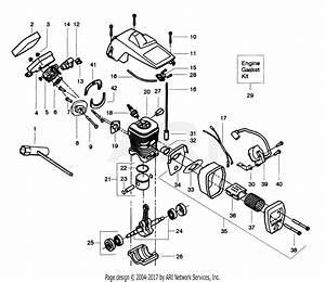 Poulan 2350 Gas Saw Parts Diagram For Internal Power Unit
