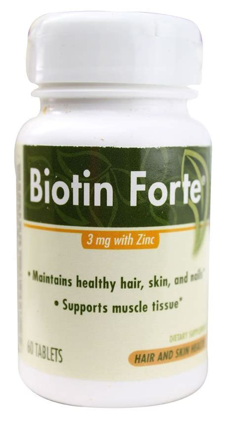 Amazon.com : Phytopharmica Biotin Forte 3mg with Zinc