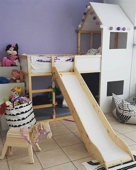 Kinderzimmer Junge Mit Rutsche by Ikea Kura Hausbett Die Besten Ideen Zum Schlafen Unterm