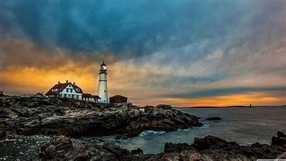 Maine Lighthouse 4k Desktop Portland Wallpapers Head