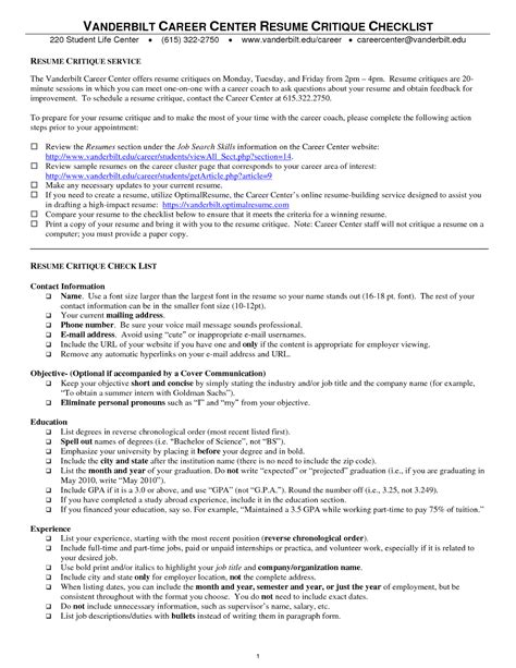 How To Improve Resume After College by Sle Of A Resume For School Free Sle Resumes