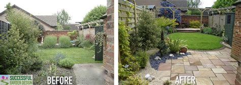 backyard before and after garden design makeover in a weekend garden therapy