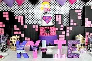 Girly Superhero Birthday Party Ideas - The Love Nerds