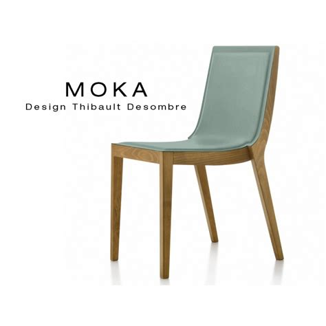 Chaises Design Bois Moka Assise Et Dossier Garnis