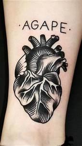 heart tattoo old school | tet | Pinterest | Black heart ...