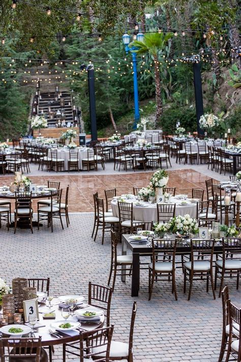 secluded outdoor space   rustic wedding  los