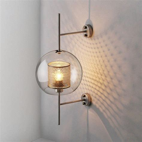 voto 1 light clear glass globe cylinder metal mesh small