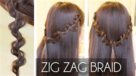 zig zag rick rack braid hair tutorial hairstyles youtube
