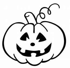 Halloween Pumpkin Clipart in Black And White – 101 Clip Art