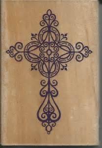 Elegant Cross Stamp New Wood Mounted Rubber By Sagebrush12