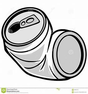 Crushed Can Illustration stock vector. Image of ...