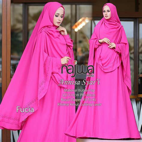 jual gamis syari hijab syari annisa original  ori najwa