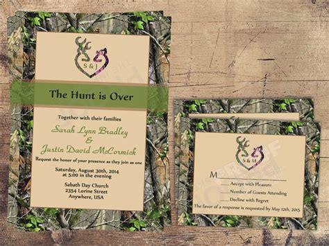 The Hunt Is Over Wedding Invitation Sets Camo Deer Deer