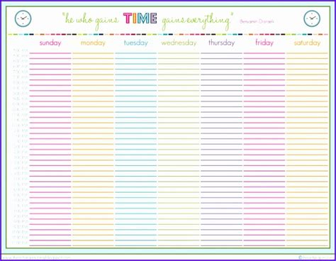 excel template schedule planner excel templates