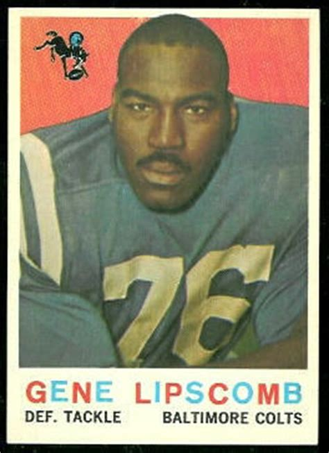 gene lipscomb rookie card  topps  vintage football card gallery