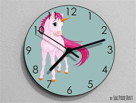 Unicorn Wall Clock- Kids Nursery Room,teens Room