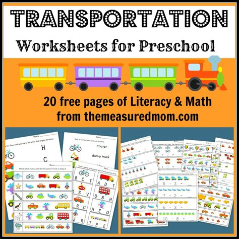 transportation worksheets for preschool 20 free pages of 312 | 2d6d8c36487c196daa824749bcac6a32