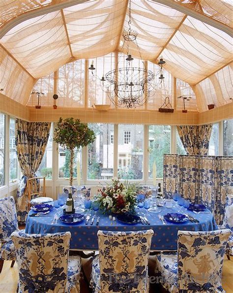 Nina Campbell ~ This conservatory extension has been