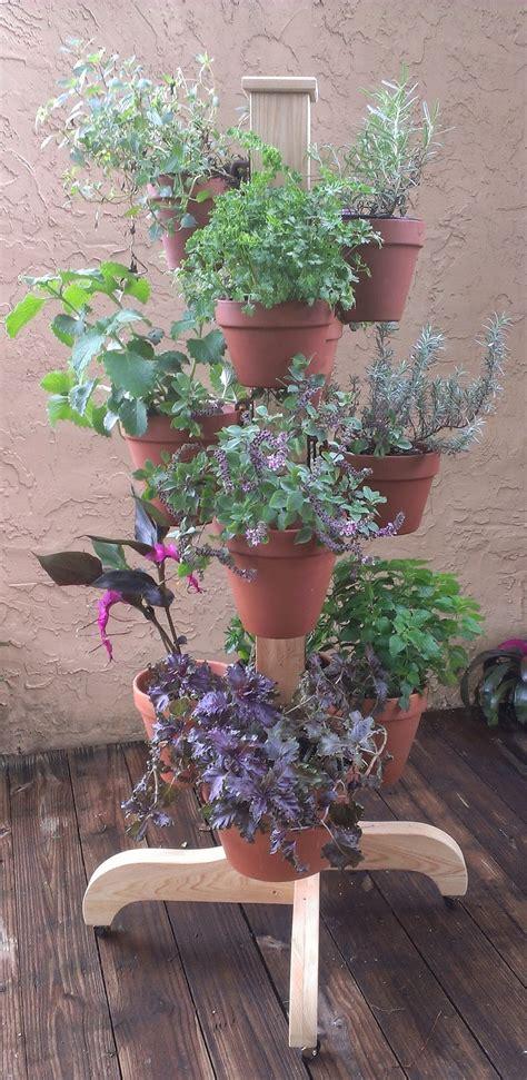 clay pot hanger flower poles container garden design