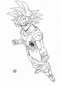 Dragonball Z - Super Sayan GOD Lineart by TriiGuN on ...
