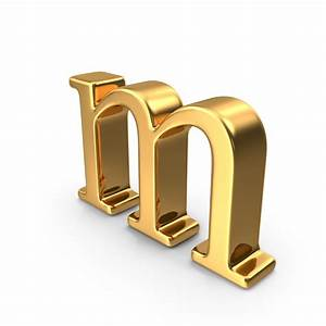 gold small letter m png images psds for download With small gold letters