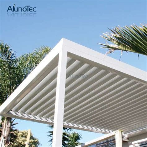 china automatic aluminum louver pergola waterproof sun shade shutter china pergola aluminum